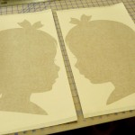 Silhouette Wall Decals in Gold Metallic