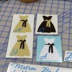 Custom Wedding Party Decals