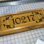 Custom House Number Frame
