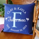 Custom Heat Press Monogram Pillow