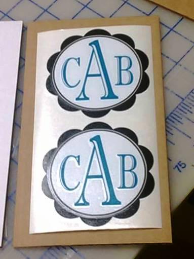 Custom Monogram Laptop Decal
