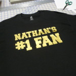 Custom T-Shirt with Gold Metallic Lettering