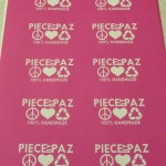 Reusable Glass Etching Stencils for Piece by Paz