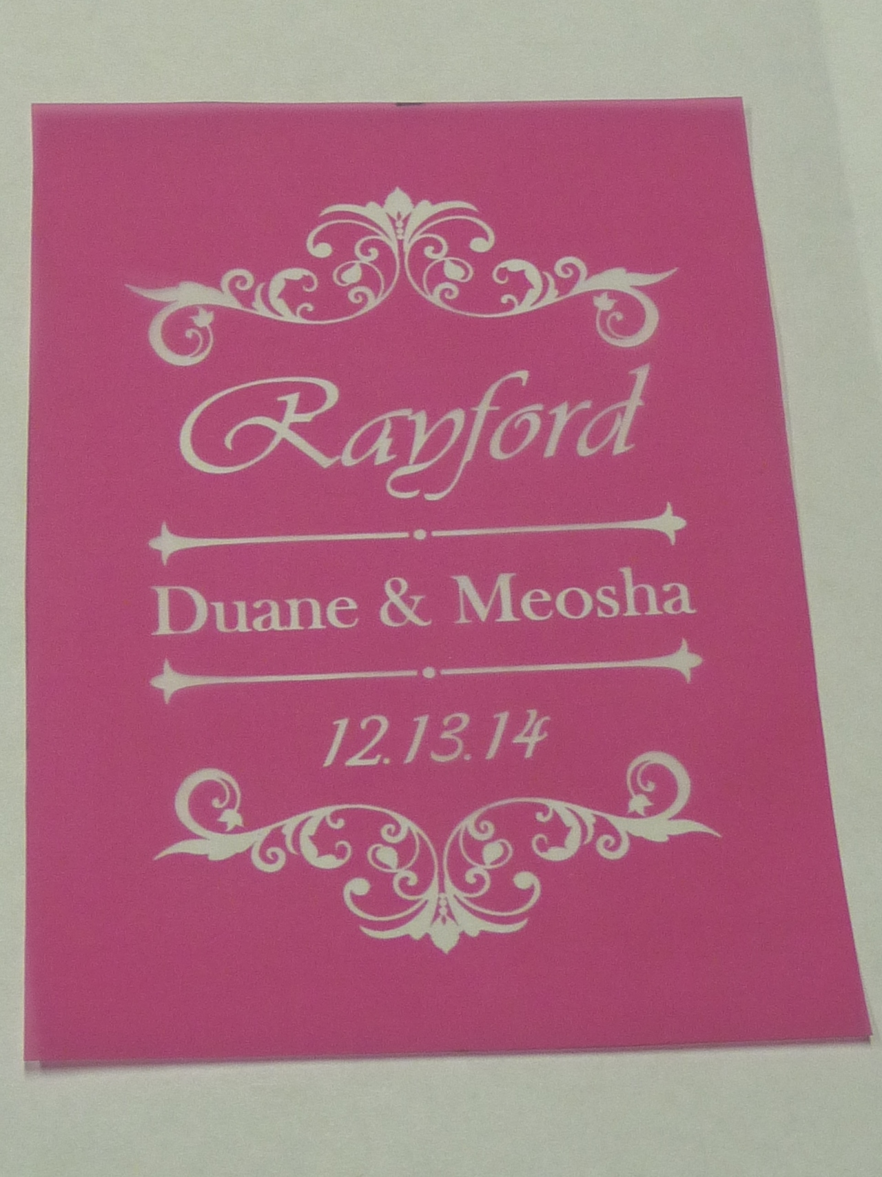 Reusable Glass Etching Stencil