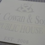 Custom Glass Etching Stencil