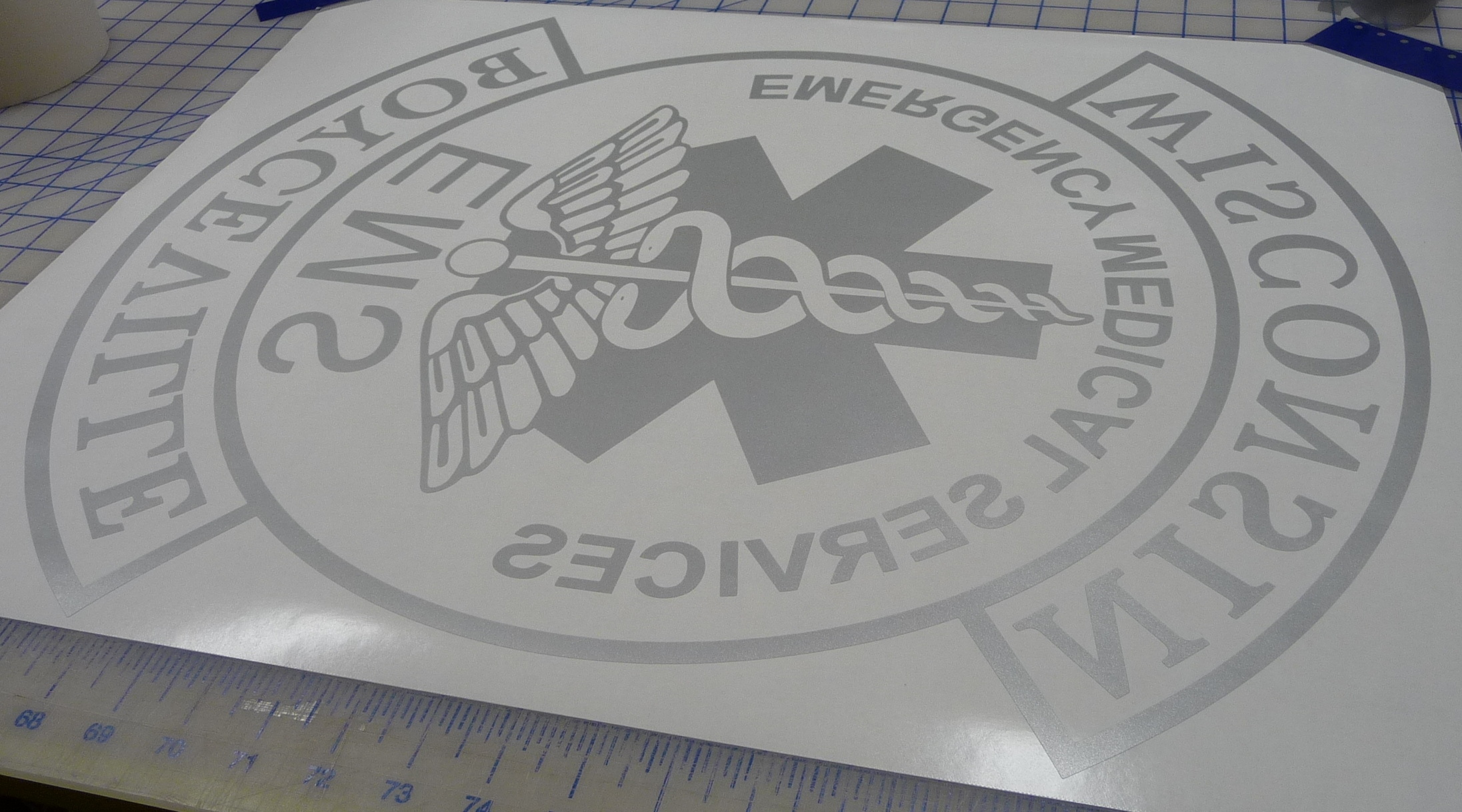 Custom Etched Glass Decal For Door Window
