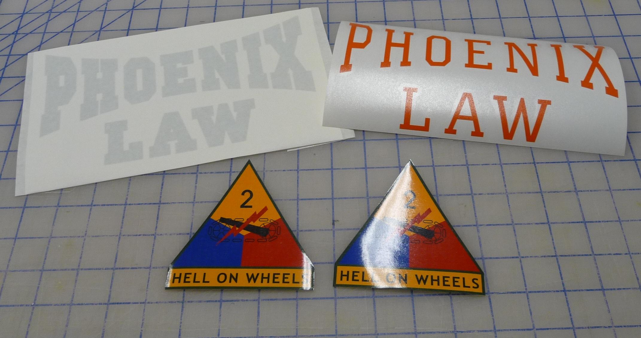 Printed Vinyl Decals