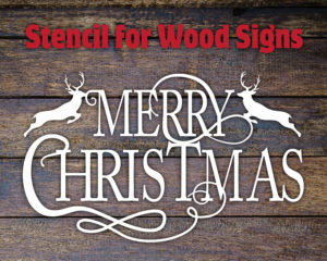 Merry Christmas Stencils for Wood Sign Painting – Kristi's