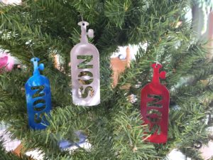 Nitrous Bottle Christmas Tree Ornament